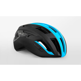 MET Vinci MIPS Kask, black/shaded cyan matte